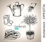 Garden Set. Sketch Elements....