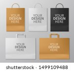 realistic shopping bag set... | Shutterstock .eps vector #1499109488
