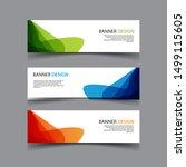 vector abstract design banner...   Shutterstock .eps vector #1499115605