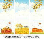 vector banners with fall... | Shutterstock .eps vector #149912492