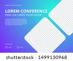 modern conference background... | Shutterstock .eps vector #1499130968