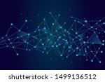 abstract network technology... | Shutterstock .eps vector #1499136512