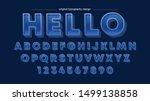 blue bold vintage artistic font ... | Shutterstock .eps vector #1499138858