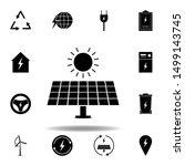 solar panel  sun icon . set of...