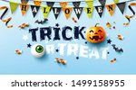 halloween poster with text ... | Shutterstock .eps vector #1499158955