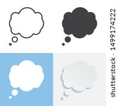 set of thought bubble. vector... | Shutterstock .eps vector #1499174222
