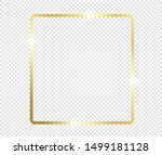 gold shiny glowing frame with... | Shutterstock .eps vector #1499181128