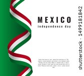 viva mexico background with... | Shutterstock .eps vector #1499181842