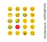 set emoticon smile icon.vector... | Shutterstock .eps vector #1499189195
