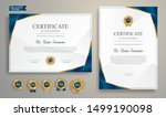 blue and gold certificate of... | Shutterstock .eps vector #1499190098