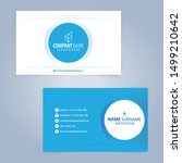blue and white modern business... | Shutterstock .eps vector #1499210642
