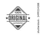 original stamp or seal. 100 ... | Shutterstock . vector #1499214188