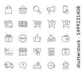 online shopping icons... | Shutterstock .eps vector #1499231408