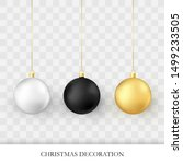 christmas decorations.... | Shutterstock .eps vector #1499233505