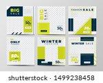set of social media post... | Shutterstock .eps vector #1499238458