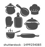 collection of cooking label or... | Shutterstock .eps vector #1499254085