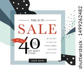 vector design for sale web... | Shutterstock .eps vector #1499262482