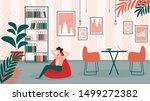 relaxed business man character... | Shutterstock .eps vector #1499272382