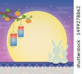chuseok or hangawi   korean... | Shutterstock .eps vector #1499278862