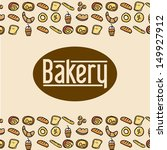 bakery label over pink... | Shutterstock .eps vector #149927912