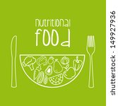 nutritional food over green... | Shutterstock .eps vector #149927936
