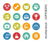 Pets icons set. Veterinary emblems, veterinary pharmacy  - stock vector