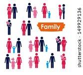 family icons over white... | Shutterstock .eps vector #149929136