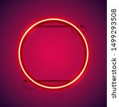 round red neon frame makes it...   Shutterstock .eps vector #1499293508