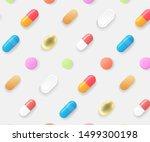 pharmacy seamless pattern.... | Shutterstock .eps vector #1499300198