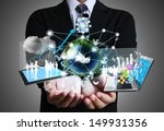 technology in the hands of... | Shutterstock . vector #149931356