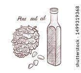vector drawing pine nut oil ... | Shutterstock .eps vector #1499319368