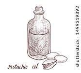 vector drawing pistachio oil ... | Shutterstock .eps vector #1499319392