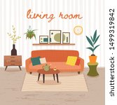 Living Room Interior With...
