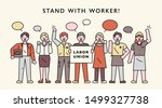 the members of the labor... | Shutterstock .eps vector #1499327738