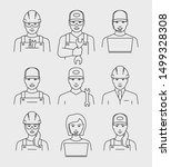 service person avatars face... | Shutterstock .eps vector #1499328308