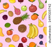 vector seamless pattern of... | Shutterstock .eps vector #1499335742