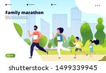 family marathon. dad  mom and... | Shutterstock .eps vector #1499339945