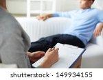 female psychologist making... | Shutterstock . vector #149934155