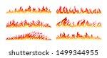 fire borders on white. cartoon... | Shutterstock .eps vector #1499344955