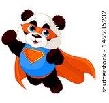 Stock vector illustration of super hero panda 149935232
