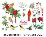 tit bird  robin bird  cardinal... | Shutterstock .eps vector #1499355032