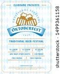 oktoberfest beer festival... | Shutterstock .eps vector #1499361158