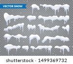 snow  ice cap collection.... | Shutterstock .eps vector #1499369732