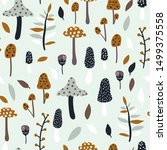 Seamless Jungle Pattern With...