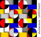 seamless pattern. classic polka ... | Shutterstock .eps vector #1499376632