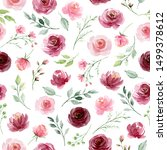 Seamless Background  Floral...