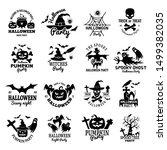 halloween symbols. scary logo... | Shutterstock .eps vector #1499382035