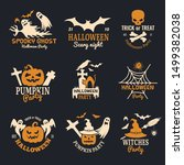 halloween badges. party scary... | Shutterstock .eps vector #1499382038