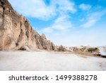 views the valley and cave house ... | Shutterstock . vector #1499388278