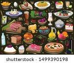 food set  background ornament ... | Shutterstock .eps vector #1499390198